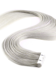 20'' 20Pcs New M-Tape in Human Hair Extensions 100% Straight Remy PU Skin Weft