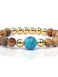Women's Strand Bracelet Gem Fashion Silver Golden Rose Gold Jewelry 1pc