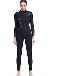 Dive&Sail® Women's 3mm Dive Skins Full WetsuitWaterproof Breathable Thermal / Warm Quick Dry Ultraviolet Resistant Front Zipper Wearable
