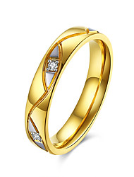 Unique Design Yellow gold plated Devil Eye CZ crystal Couple Ring Romantic Valentine's Day Stainless Steel Men Charm Ring