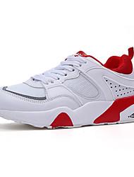Women's Athletic Shoes PU Spring Summer Athletic Casual Walking Low Heel White Dark Grey Dark Brown Under 1in