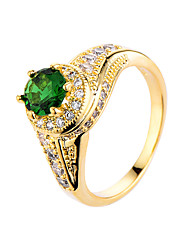 Ring AAA Cubic Zirconia Zircon Cubic Zirconia Alloy Fashion White Rose Green Light Blue Jewelry Casual 1pc