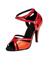 Damen-Sandalen-Kleid-Kunstleder-Stöckelabsatz-Andere-Blau Rot Gold