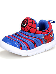 Boy's Athletic Shoes Spring Fall Comfort Tulle Outdoor Casual Flat Heel Lace-up Magic Tape Blue Red Orange Royal Blue