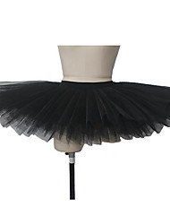 Ballet Tutus & Skirts Women's / Children's Performance Cotton / Lycra Waistand Without Underpants 9 Layers Hard Tulle