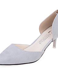 Women's Heels Spring Summer Fall Comfort Fabric Office & Career Casual Stiletto Heel Others Black Red Gray Khaki Walking