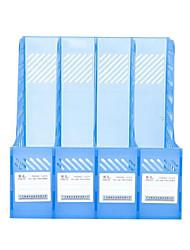 material de escritório de plástico transparente bar quadro de quatro barras arquivo file quadro de gestão de quatro documentos