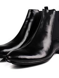 Для мужчин Ботинки Армейские ботинки Дерматин Кожа Осень Зима Повседневные Армейские ботинки Черный Коричневый На плоской подошве
