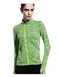 Women's Long Sleeve Running T-shirt Tops Breathable Quick Dry Reduces Chafing Ultra Light Fabric Spring Summer Fall/Autumn WinterSports