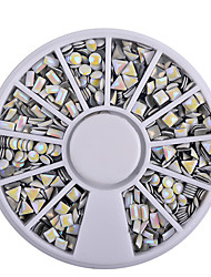 1pcs Circular AB Nail Sequins Metal Jewelry
