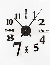 Модерн Ретро Праздник Духовное развитие Семья Друзья Мультфильмы Настенные часы,Круглый Новинки Акрил Металл 80 Применение Часы