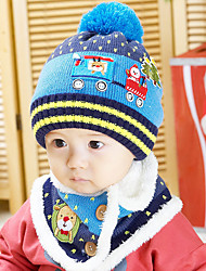 Unisex Knitting Winter Going out/Casual/Daily Boy And Girl Warmth Hat Caps & Infinity Scarf Two-piece Set