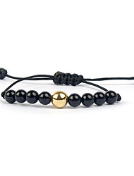 Women's Strand Bracelet Personalized Adjustable Beaded European Gemstone Agate Infinity Jewelry For Daily Casual