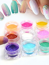 1g Hot Magic Shinning Nail Art Glitter Mermaid Effect 12 Colors White/Pink/Gold/Purple Beauty DIY Full Pigment Tips Decor M01-12