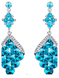 Drop Earrings Sapphire Crystal Blue Jewelry Wedding Party Daily 1 pair