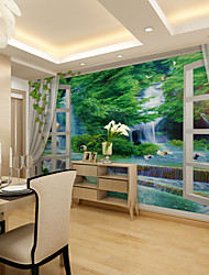 JAMMORY Modern Bedroom Living Room Sofa TV Background Wall Waterfall Forest Landscape Background Large Murals XL XXL XXXL