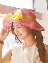 Fashion Summer Anti-UV Bow Sunshade Beach Umbrella Big Along The Hat
