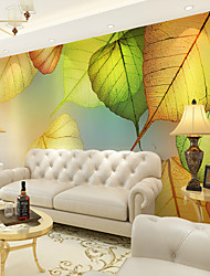 JAMMORY Art Deco Wallpaper For Home Wall Covering Canvas Adhesive Required Mural Big Tree Leaves XL XXL XXXL