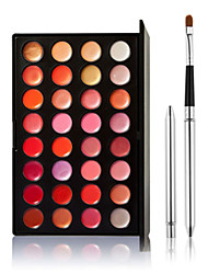 32-Color Tinted Lipstick Lip Gloss Makeup Palette +1 PCS Lip brush