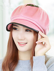 Autumn And Winter New Women Fight The Skin Anise Octagonal Berets Winter Tidal Cap Cap Fashion Caps