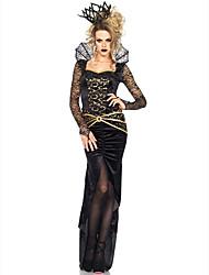 Disfraces de Cosplay Ropa de Fiesta Baile de Máscaras Mago/Bruja Princesas Reina Vampiros Cosplay de Películas Negro Un ColorVestido Para