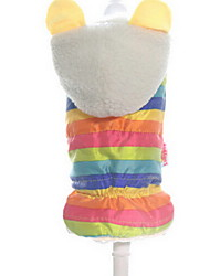 Dog Coat Dog Clothes Cute Stripe Rainbow