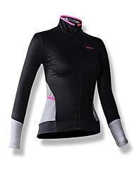SPAKCT® Maillot de Cyclisme Femme Manches longues Vélo Respirable Garder au chaud Pare-vent Maillot 100 % Polyester MosaïquePrintemps