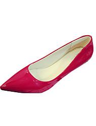 Women's Heels Spring Comfort PU Wedding Outdoor Office & Career Dress Casual Party & Evening Low Heel Black Light Grey Red Blushing Pink