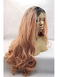 Ombre Blonde Long Wavy Hair Natural Body Wave for Black Women Glueless Lace Front Wig Heat Resistant Synthetic Wigs Long Wig