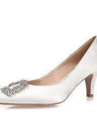 Women's Heels Spring Summer Fall Winter Silk Wedding Outdoor Office & Career Dress Casual Party & Evening Stiletto HeelRhinestone Crystal