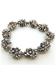 Bracelet Chain Bracelet Alloy Flower Fashion Bohemia Style Gift Party Daily Casual Jewelry Gift Silver,1pc