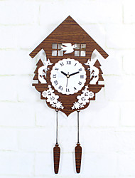 Modern Creative Forest Hut Fox Bird Mute Wall Clock