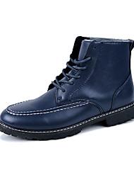 Черный Синий Темно-коричневый-Мужской-Для прогулок Повседневный-ДерматинДругое-Ботинки