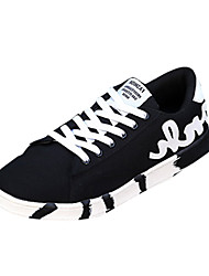Men's Athletic Shoes Spring Fall Comfort PU Casual Flat Heel Lace-up Black Blue Other