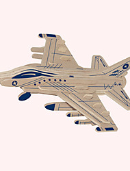 Jigsaw Puzzles Wooden Puzzles Building Blocks DIY Toys F-16 Fighting Falcon 1 Wood Ivory Model & Building Toy