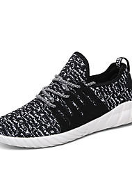 Running Shoes Men's Athletic Shoes Spring Fall Fabric Casual Flat Heel Lace-up White Black Red Black/White