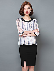 Chiffon shirt 2016 spring new Korean fashion wild ladies loose shirt sleeve shirt