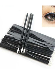 50Pcs Disposable Eyeliner Eye Liner Liquid Wand Applicator Brush Cosmetic Make Up Brushes Tool