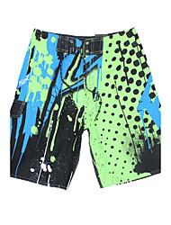 miesten nopeasti kuivuva hengittävä ranta shortsit / pohjat print polyesteri punainen / sininen