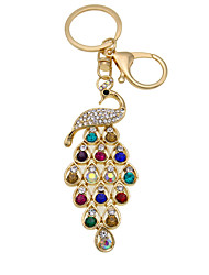 Fashion peacock diamond key buckle car accessories Handbag Pendant