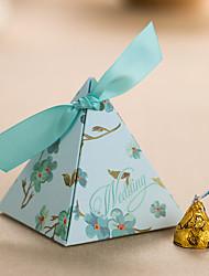 12 Peça/Conjunto Titular Favor-Pirâmide Papel de Cartão Caixas de Ofertas Caixas de Presente não-personalizado