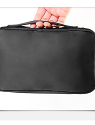 Makeup Storage Cosmetic Bag PU Quadrate Black