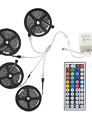 20M(4*5M) 5050 RGB 600 LEDs Flexible Strip Lights Not Waterproof DC 12V 600LEDs with 44Key IR Remote Controller Kit