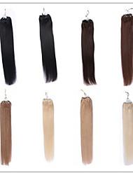 16-26micro Ring Haarverlängerung Top-Qualität nicht verarbeitete brasilianisches reines Haar seidige gerade Art und Weise Frauen