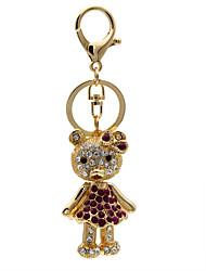 Creative personality bag hanging diamond car bear Keychain