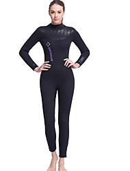 Dive&Sail® Women's 5mm Dive Skins Full WetsuitWaterproof Breathable Thermal / Warm Quick Dry Ultraviolet Resistant Front Zipper Wearable