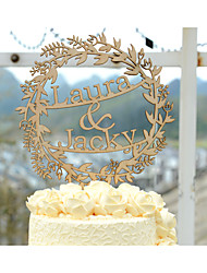 Wedding Cake Topper Custom with Bride and Groom Names Made of Natural Wood or Silver Acrylic