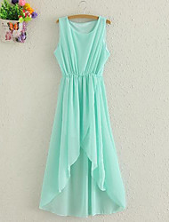 Woman's New Summer Irregular Chiffon Dress