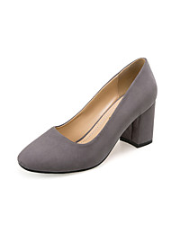 Women's Heels Spring Other Comfort PU Casual Chunky Heel Others Black Gray Khaki Other