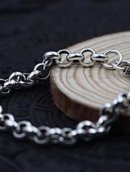 Homme Femme Bracelets Rigides Mode Vintage Simple Style Perle Argent sterling Forme de Cercle Bijoux Argent Bijoux PourSoirée